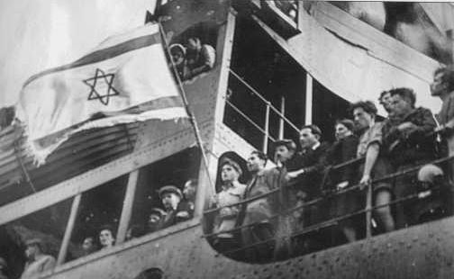 Arrivée de réfugiés juifs en Israel. 1948