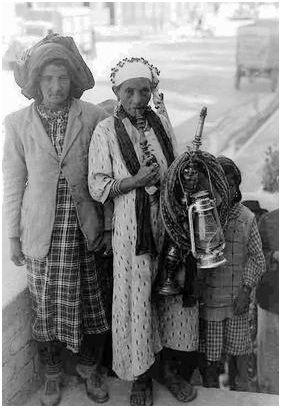 Réfugiés yéménites. Haifa 1950.