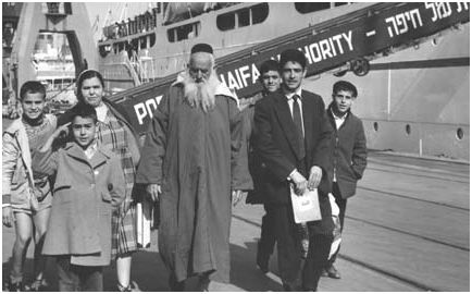 Réfugiés marocains arrivant au port d'Haifa. 1950. photo David Harris
